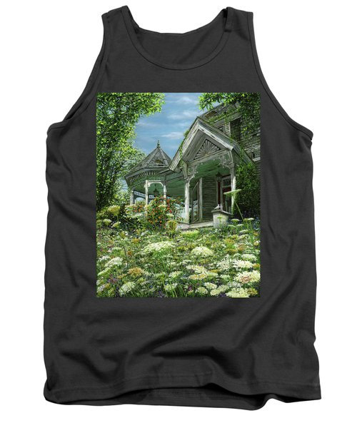 White Lace And Promises Abandoned Tank Top by Doug Kreuger