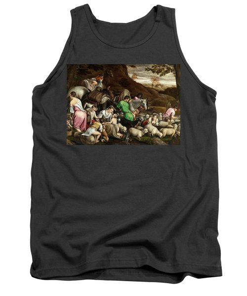 Tank Top featuring the photograph White Lambs by Munir Alawi