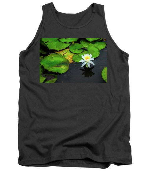 White Lily And Rippled Water Tank Top
