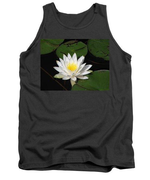 White Lily Pad Tank Top