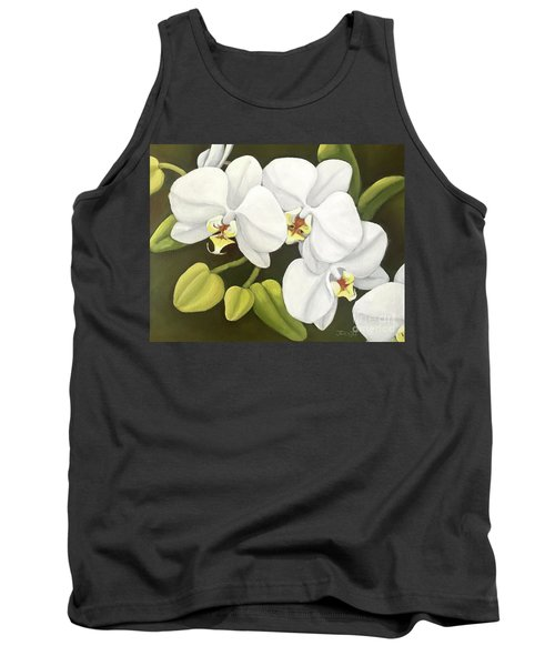 White Orchid Tank Top by Inese Poga