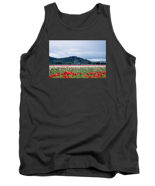 White Pass Highway With Tulips Tank Top by E Faithe Lester