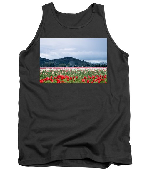 White Pass Highway With Tulips Tank Top