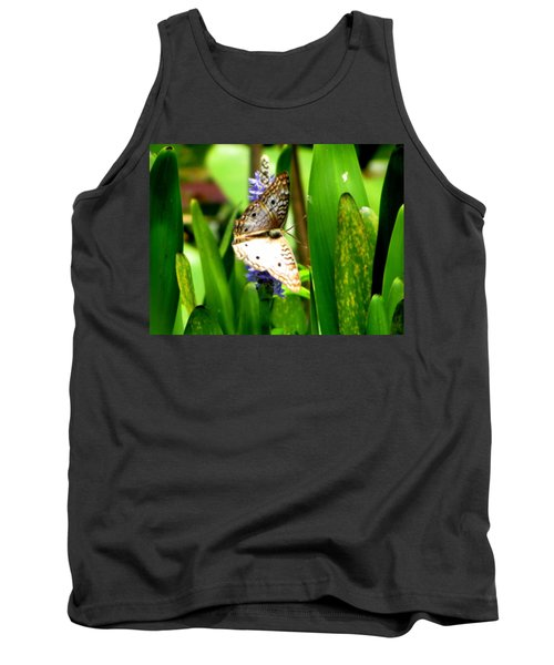 White Peacock Butterfly Painting  Tank Top