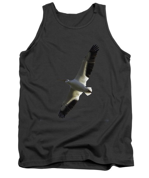 White Pelican In Flight Transparency Tank Top