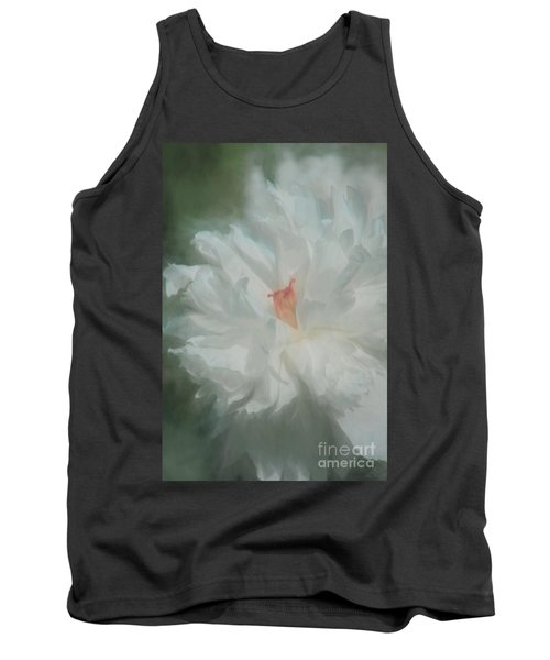 Tank Top featuring the photograph White Peony by Benanne Stiens