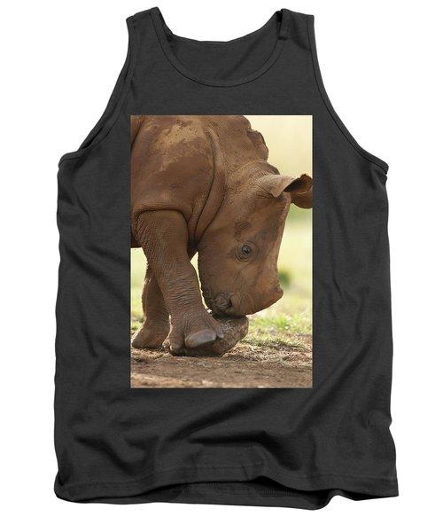 White Rhinoceros Ceratotherium Simum Tank Top
