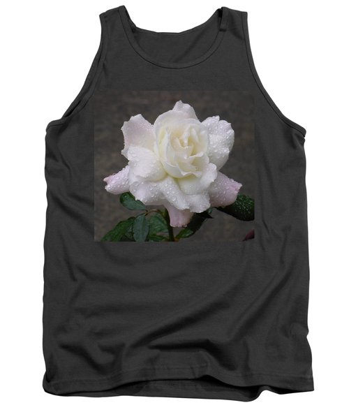 White Rose In Rain - 3 Tank Top