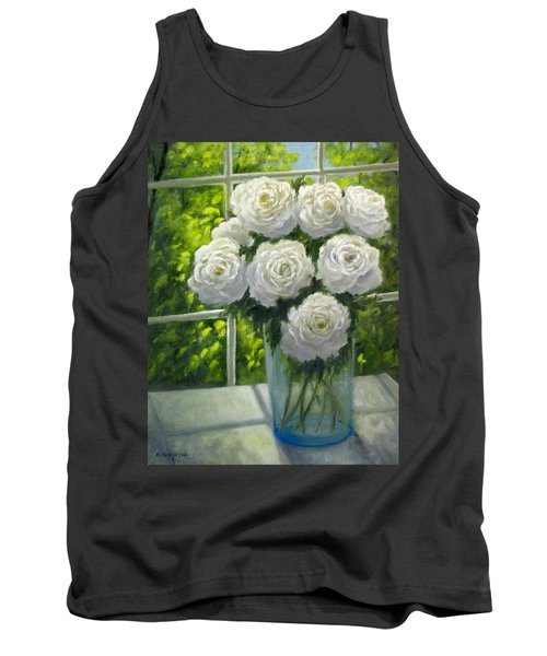White Roses Tank Top