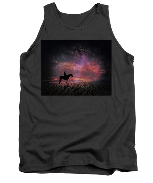 White Sands Horse And Rider #4c Tank Top