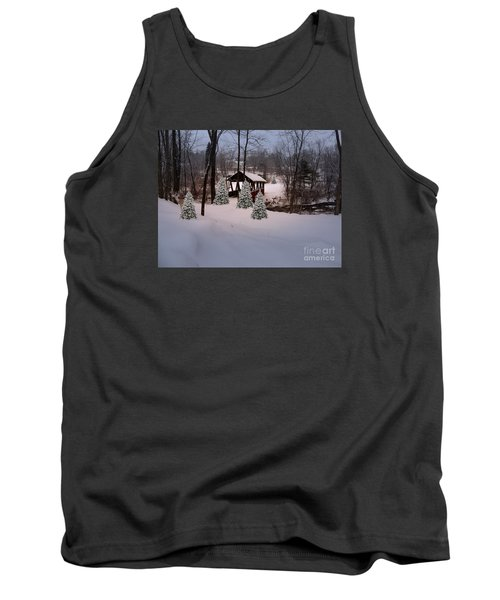 White Tailed Buck At Belmont N H Covered Bridge Tank Top