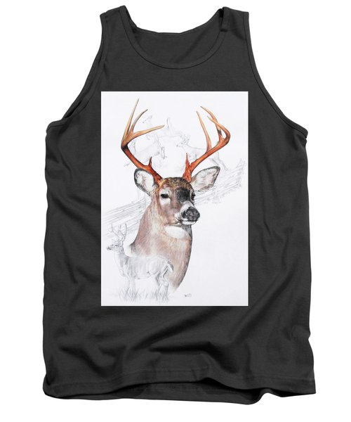 White-tailed Deer Tank Top by Barbara Keith