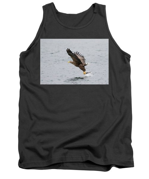 White-tailed Eagle Catching Dinner Tank Top