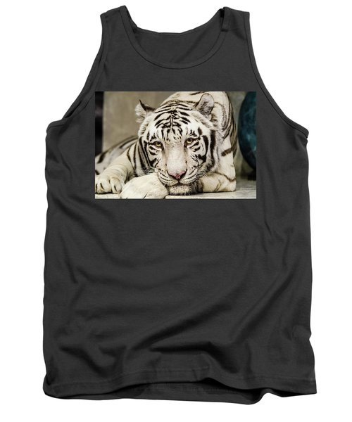 White Tiger Looking At You Tank Top