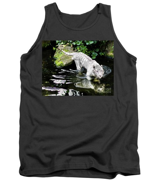 White Tiger Tank Top by M G Whittingham