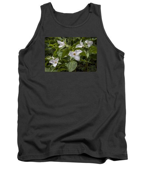 Tank Top featuring the photograph White Trillium by Tyson and Kathy Smith