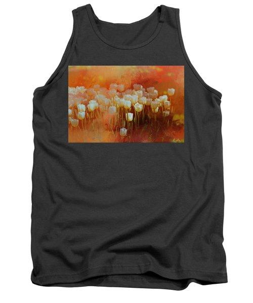 White Tulips Tank Top