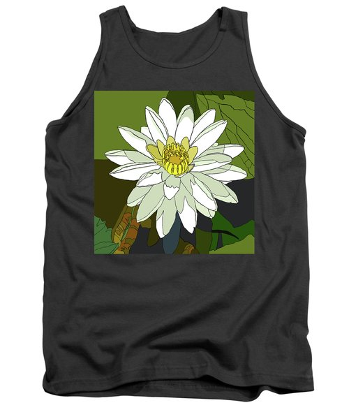 White Water Lily Tank Top by Jamie Downs