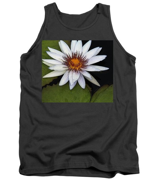White Water Lily Tank Top by Yvonne Wright