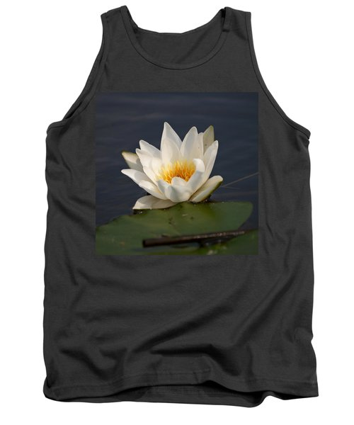 Tank Top featuring the photograph White Waterlily 1 by Jouko Lehto