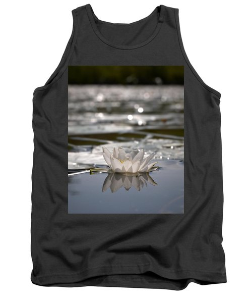 Tank Top featuring the photograph White Waterlily 3 by Jouko Lehto