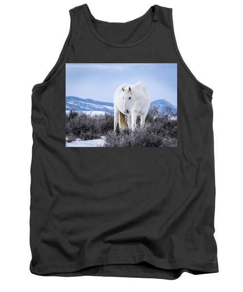 White Wild Horse Mystic Of Sand Wash Basin Tank Top
