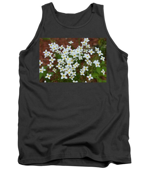 Tank Top featuring the digital art White Wildflowers by Barbara S Nickerson
