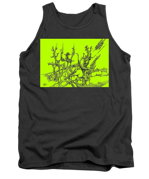 Whooshh -  Lime Background Tank Top by Charles Cater