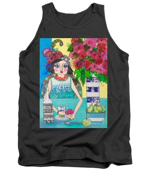 Why Limit Happy To A Hour Tank Top by Rosemary Aubut