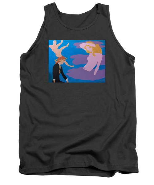 Tank Top featuring the painting Therapist by Erika Chamberlin