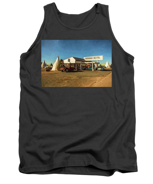 Tank Top featuring the painting Wigwam Motel by Lou Novick