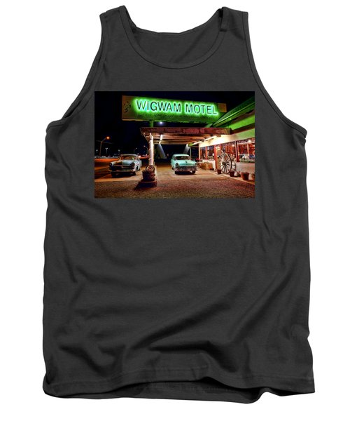 Wigwam Motel Tank Top by Jason Abando
