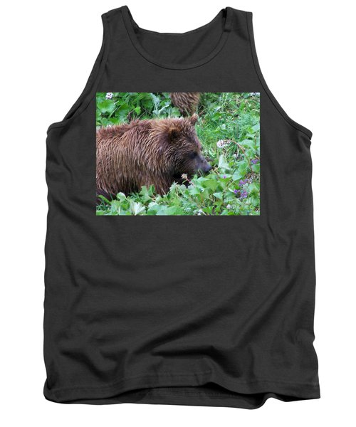 Wild Bear Eating Berries  Tank Top