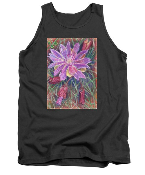 Tank Top featuring the drawing Wild Bitterroot Flower by Dawn Senior-Trask