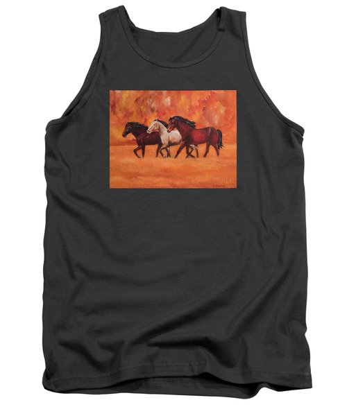 Wild Horses Tank Top by Ellen Canfield