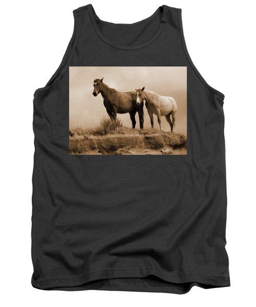 Wild Horses In Western Dakota Tank Top