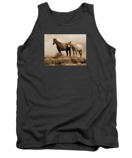 Wild Horses In Western Dakota Tank Top