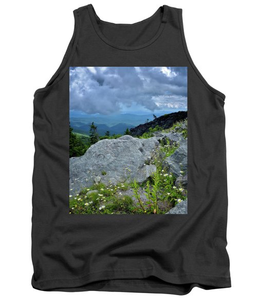 Wild Mountain Flowers Tank Top by Steve Hurt