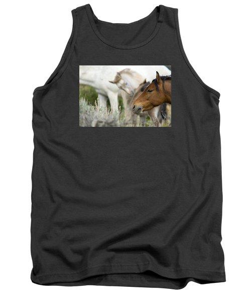 Wild Mustang Horses Tank Top