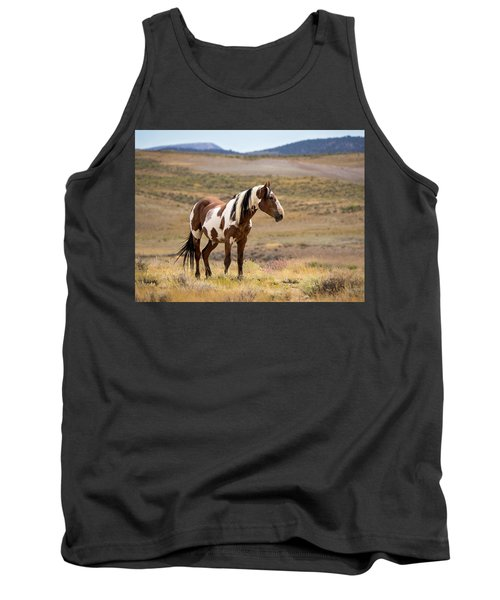 Wild Mustang Stallion Picasso Of Sand Wash Basin Tank Top