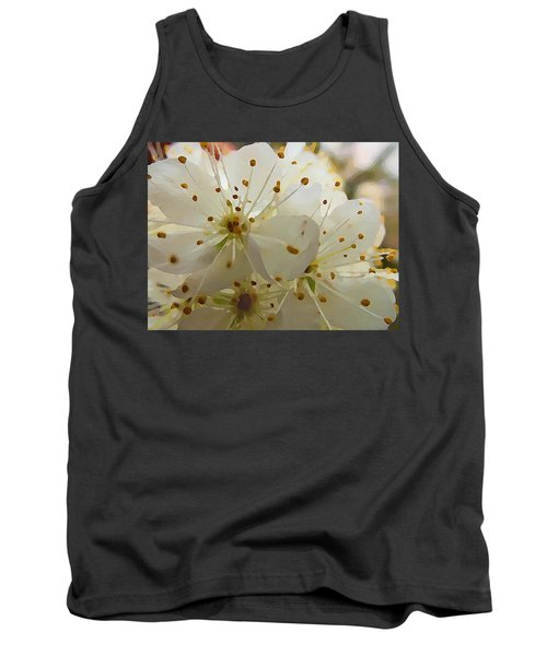 Tank Top featuring the digital art Wild Sand Plum  by Shelli Fitzpatrick