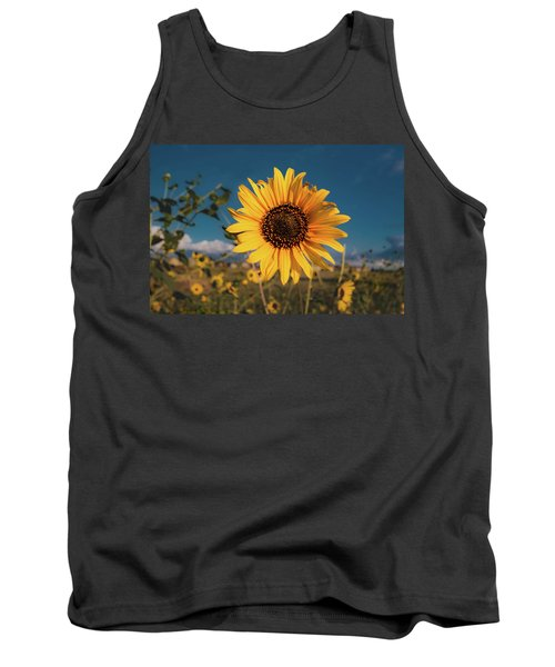 Wild Sunflower Tank Top by Jay Stockhaus