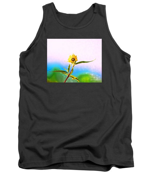 Tank Top featuring the photograph Wild Sunflower by Lila Fisher-Wenzel