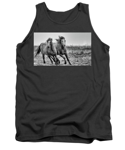 Tank Top featuring the photograph Wild West Wild Horses by Kelly Marquardt