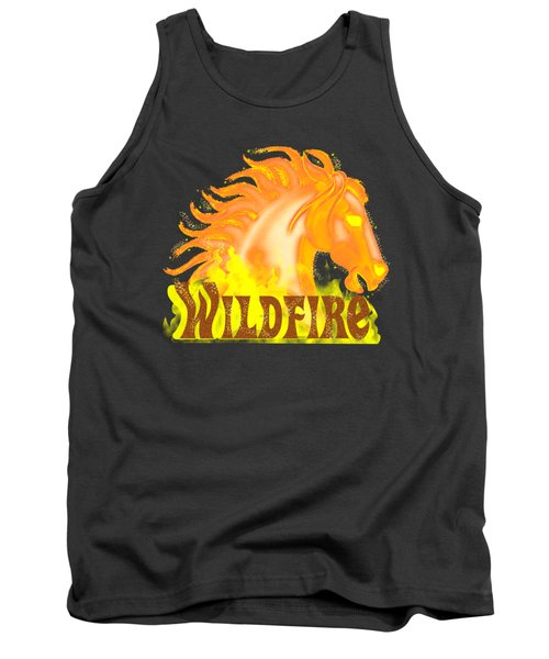 Tank Top featuring the mixed media Wildfire by J L Meadows