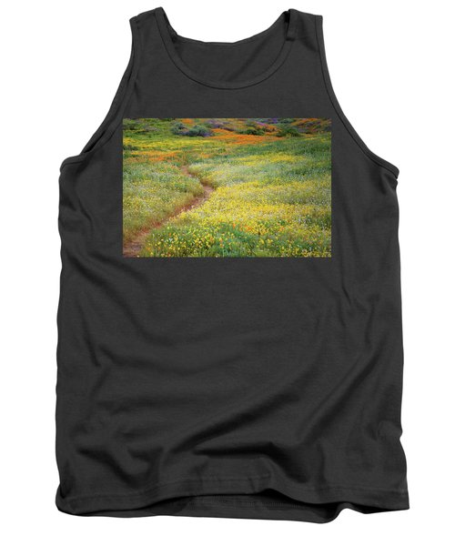 Tank Top featuring the photograph Wildflower Field Near Diamond Lake In California by Jetson Nguyen