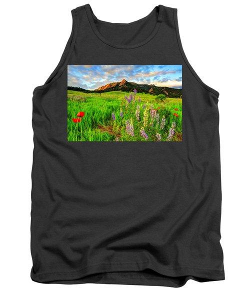 Wildflower Mix Tank Top by Scott Mahon