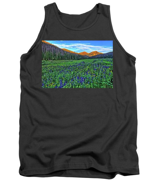 Tank Top featuring the photograph Wildflower Park by Scott Mahon