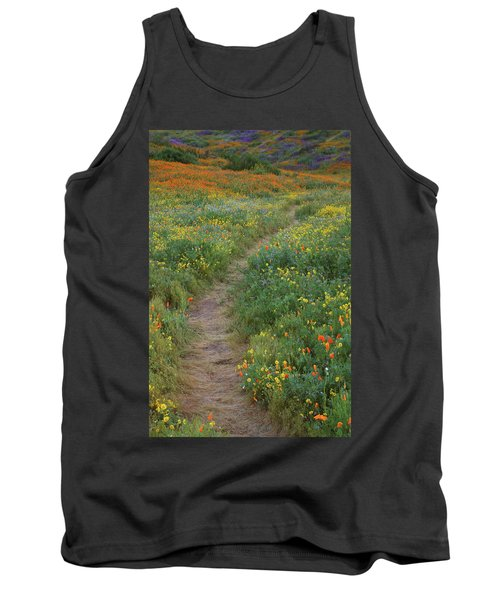 Tank Top featuring the photograph Wildflower Trail At Diamond Lake In California by Jetson Nguyen