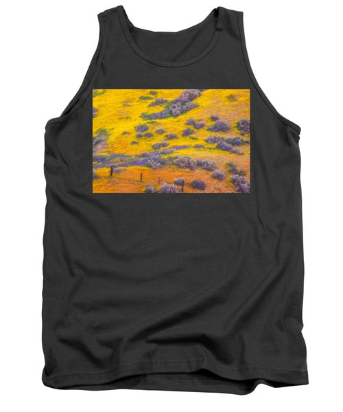 Wildflowers And Fence Tank Top by Marc Crumpler